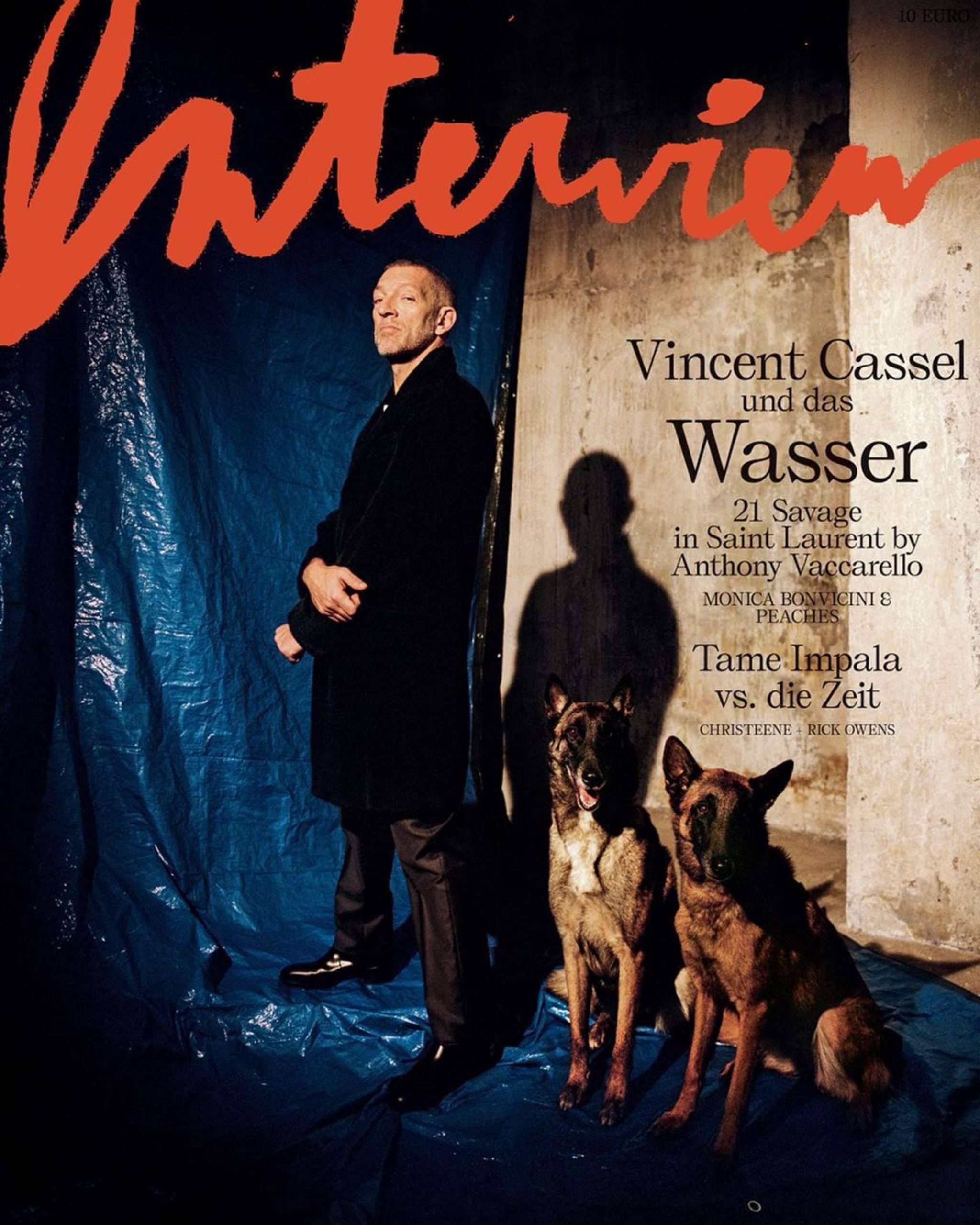 Vincent Cassel, Interview magazine, Dexter Navy, Arthur et Phiippine